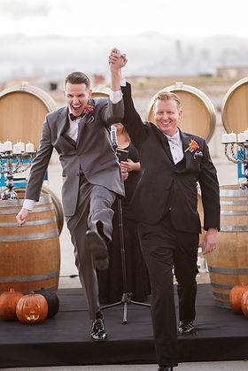 Groom and Groom just married