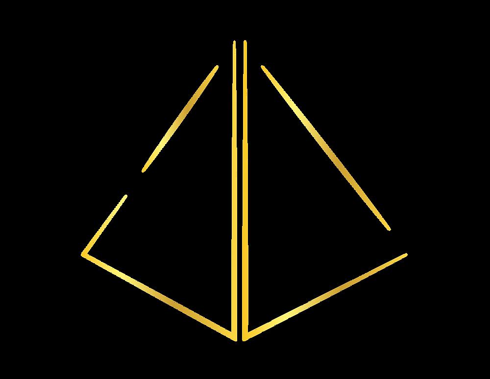 Golden logo monogram for By Jason Lloyd