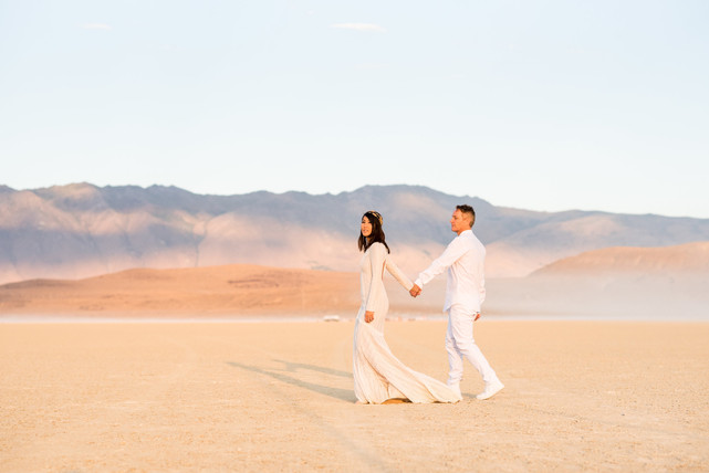 Grace + Woo - Burning Man Wedding