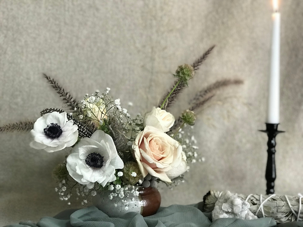 Floral Arrangement for a winter wedding