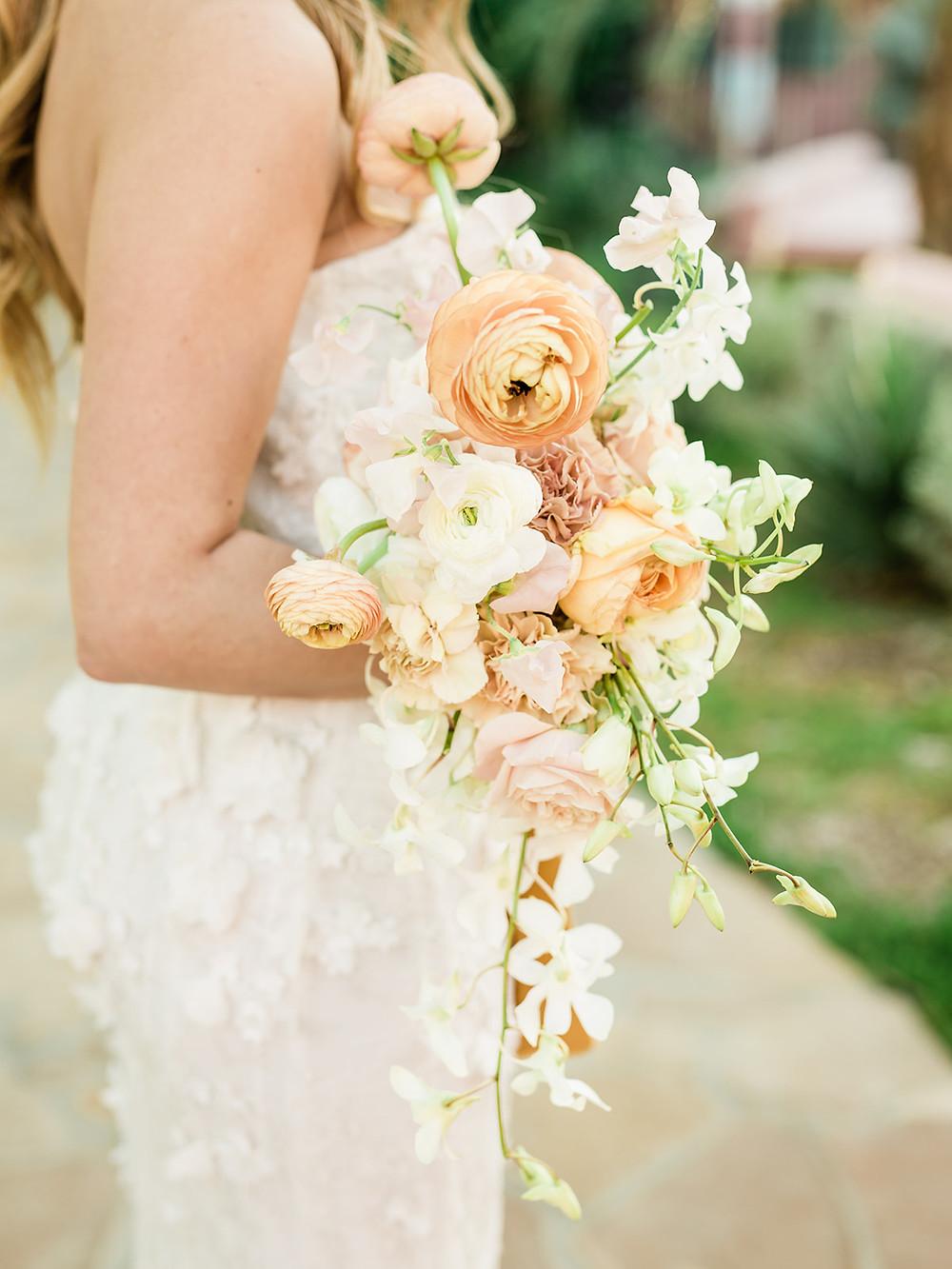 bouquet - Modern Moroccan Desert Glam Editorial - LGBTQ Wedding Editoiral - Wedding Design Inspiration - Muted Desert Tones - Modern Glam Jungle Chic