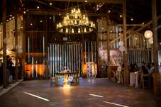 Reception area in barn is set and ready to go