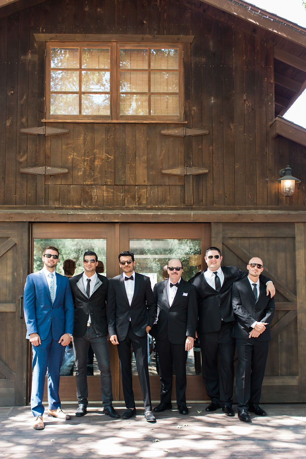 Super cool groomsmen ready for ceremony.