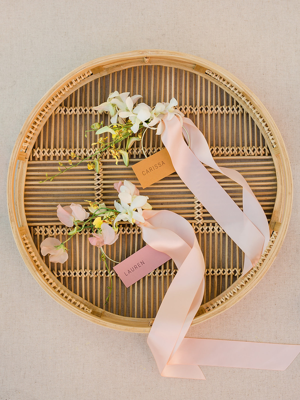 corsages gold cuffs - Modern Moroccan Desert Glam Editorial - LGBTQ Wedding Editoiral - Wedding Design Inspiration - Muted Desert Tones - Modern Glam Jungle Chic