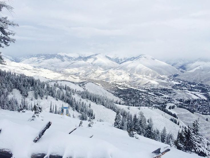 Sun Valley Idaho in mid-winter, covered in snow