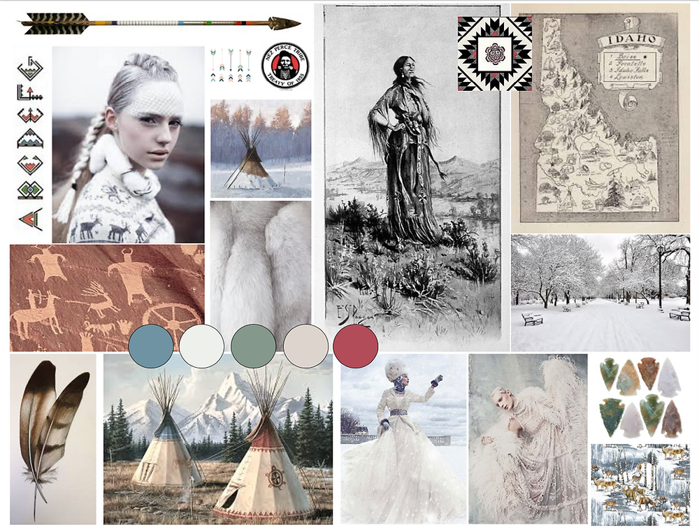 Mood Board for a winter wedding in Idaho