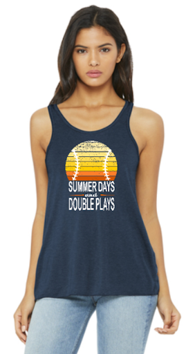 Racer Back Tank Summer Days & Double Plays