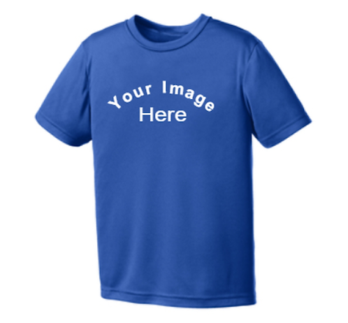 Youth 100% Poly Dry Zone ® moisture-wicking t-shirt with customization