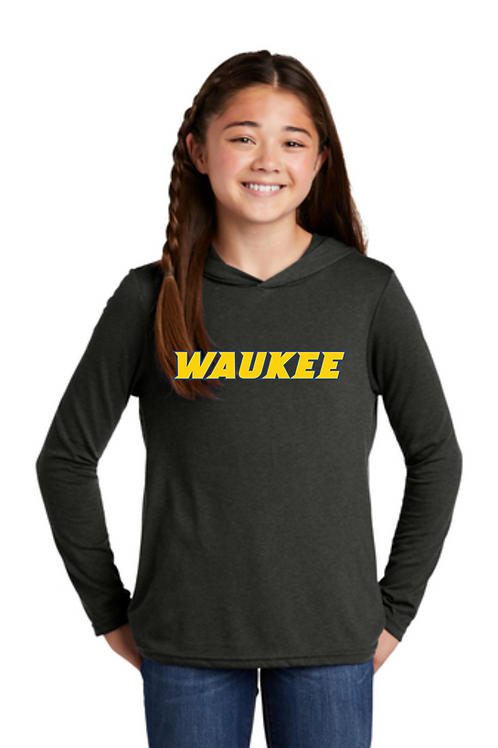 WAC Youth black long sleeved t-shirt hoodie