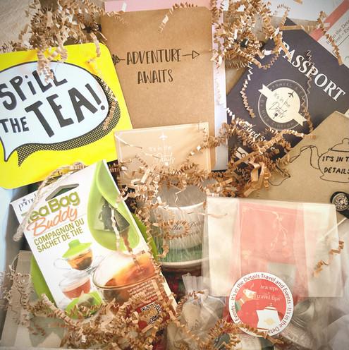 Tea Sips + Travel Tips Event Box