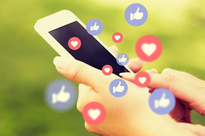 Young man using smart phone,Social media