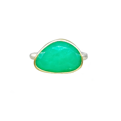 Chrysoprase Ring by Heather Guidero