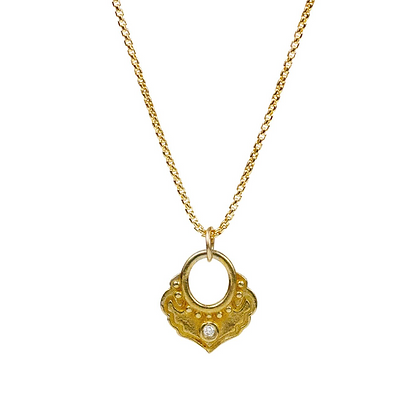 """Karma Pendant Necklace """"thoughtful action"""" by Lulu Designs"""