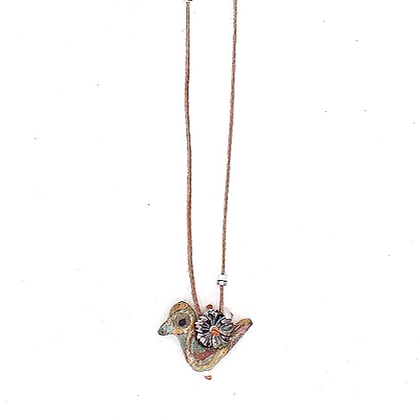 Winter Bird of Happiness Necklace