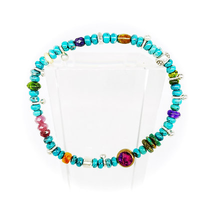 53 & Me Turquoise Mix Bracelet by Riverstone