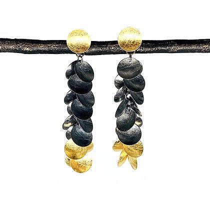 Large Grape Dangle 2-Color Earrings