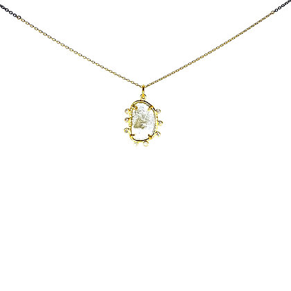 Sliced Diamond Necklace by ARA