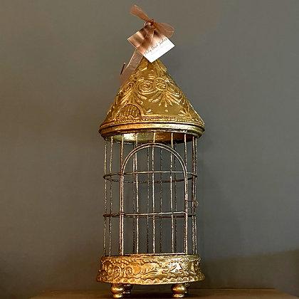 Vintage Gilded Gold Bird Cage