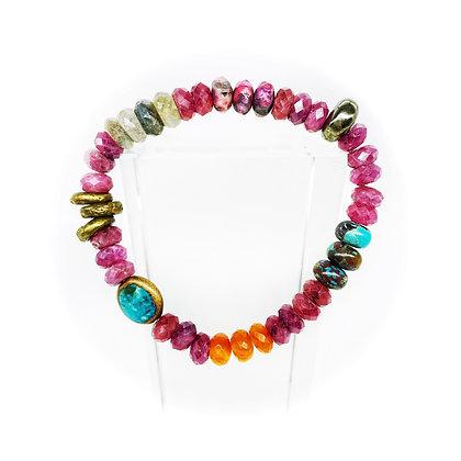 8mm Ruby Mix Bracelet by Riverstone