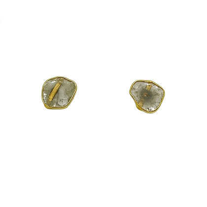 Golden Diamond Slice Studs by River Song