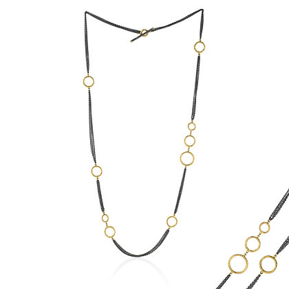 Multi-Chain Bubbles Necklace by Lika Behar Collection