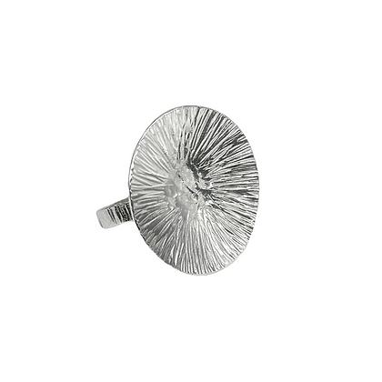 Feathered Disc Ring