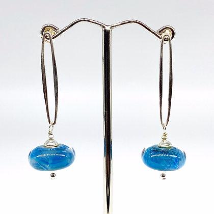 Blue Sliver Earrings