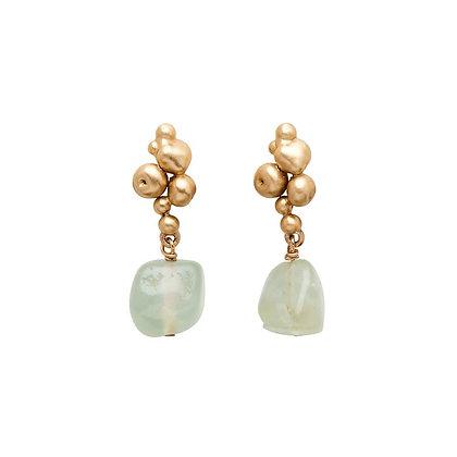 Ore Bronze Prehnite Earrings by Julie Cohn