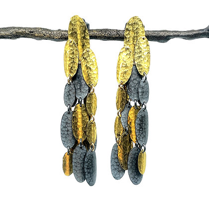 Large Golden Shield Earrings by Hitomi Jacobs