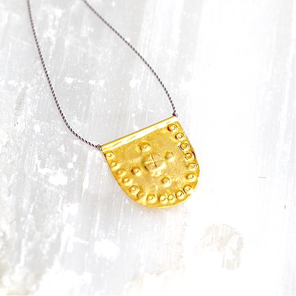 Small Medallion Talisman Necklace by River Song