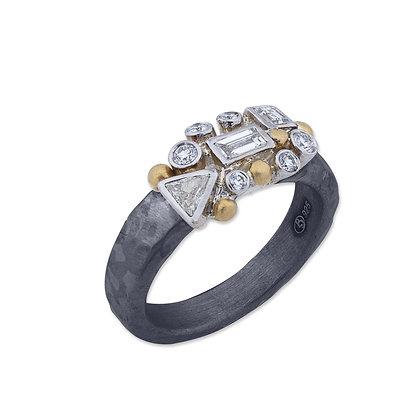Fancy Cut Diamonds Set Scatter Ring by Lika Behar Collection