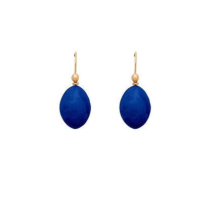 Yves Blue Egg Clay Earrings by Julie Cohn