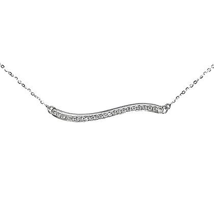 Scribble Pave Bar Necklace by Dana David