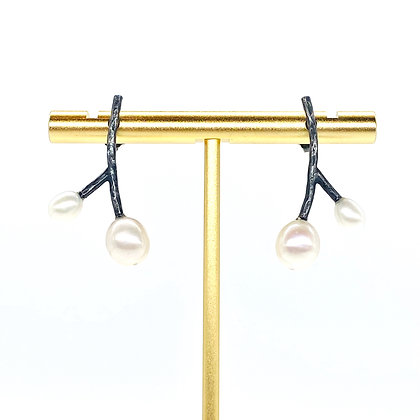 Double Sprig Earrings by Hitomi Jacobs