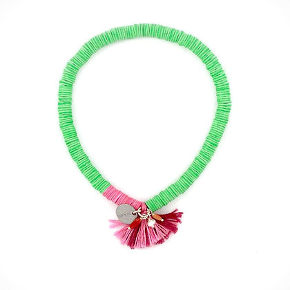 Pink & Green Sequin Stretch Mix Bracelet by Chan Luu