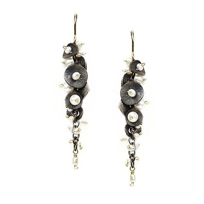 Cascading Pearl Earrings by Calliope