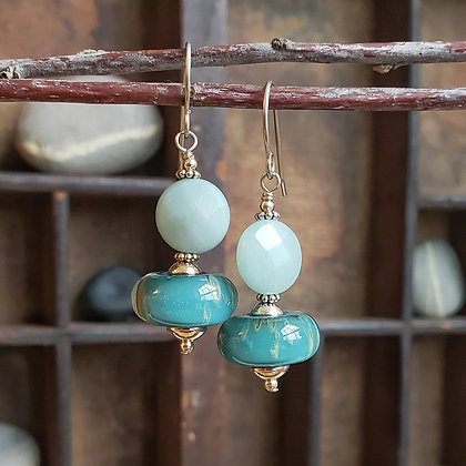 Amazonite Earrings by Caitlin Burch