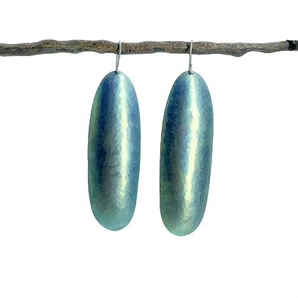 Long Domed Oval Earrings by Amie Plante