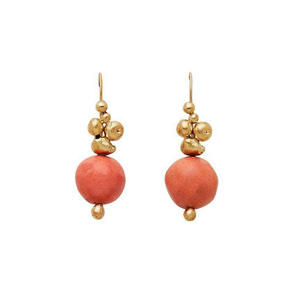 Ore Persimmon Clay Bronze Earrings by Julie Cohn