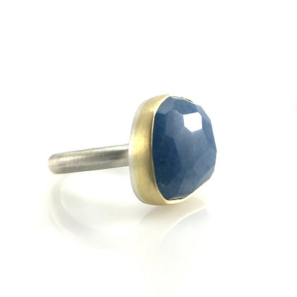 Rosecut Lazulite Quartz Ring by Heather Guidero