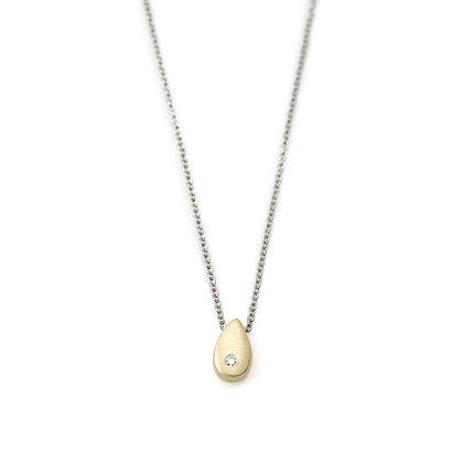 Drop Diamond Pendant Necklace by Philippa Roberts