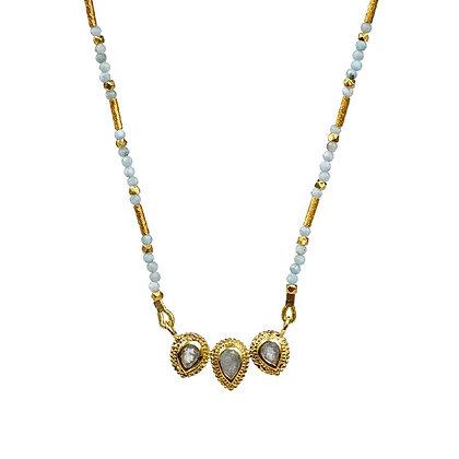 Triple Ellis Aquamarine Necklace by Lulu Designs