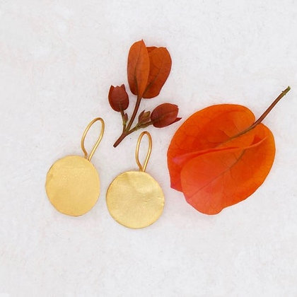 Golden Coins Earrings by River Song