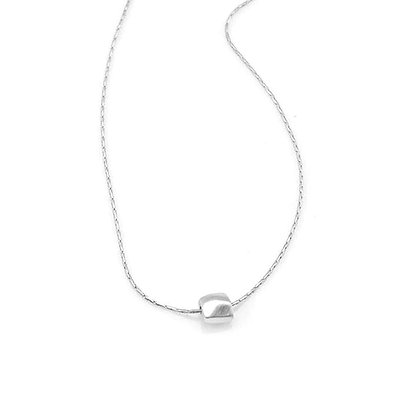 One Little Faceted Square Necklace by Philippa Roberts