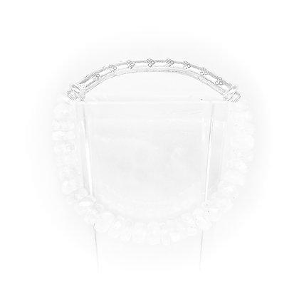 Moonstone Silver Bar Bracelet by Riverstone #6.34