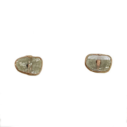 Rosery Diamond Slice Studs by River Song