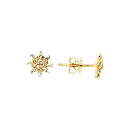 Diamond Starburst Studs by Dilamani