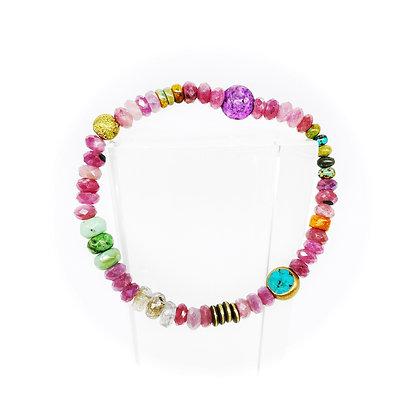 Ruby Mix Bracelet by Riverstone