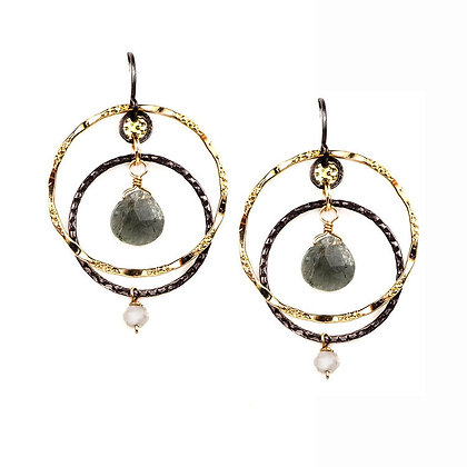 Fusion Hoops Dangle Earrings by Calliope