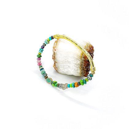 Mix Gold Bar Bracelet by Riverstone